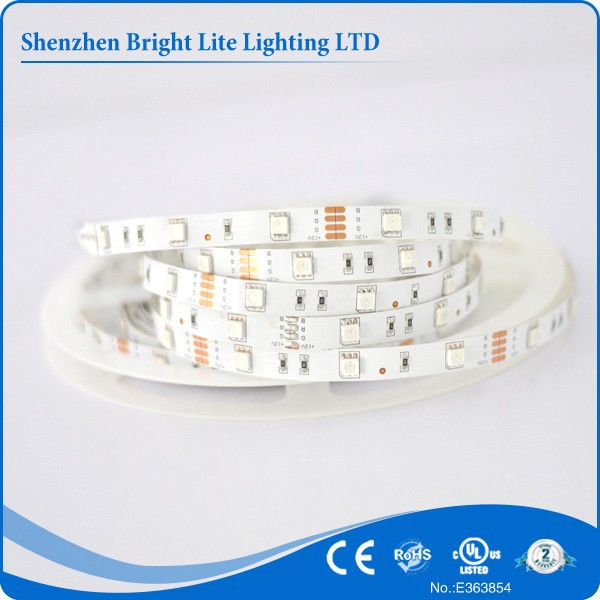 5050 Nonwaterproof IP20 RGB 30LED UL certificate small battery operated led strip light