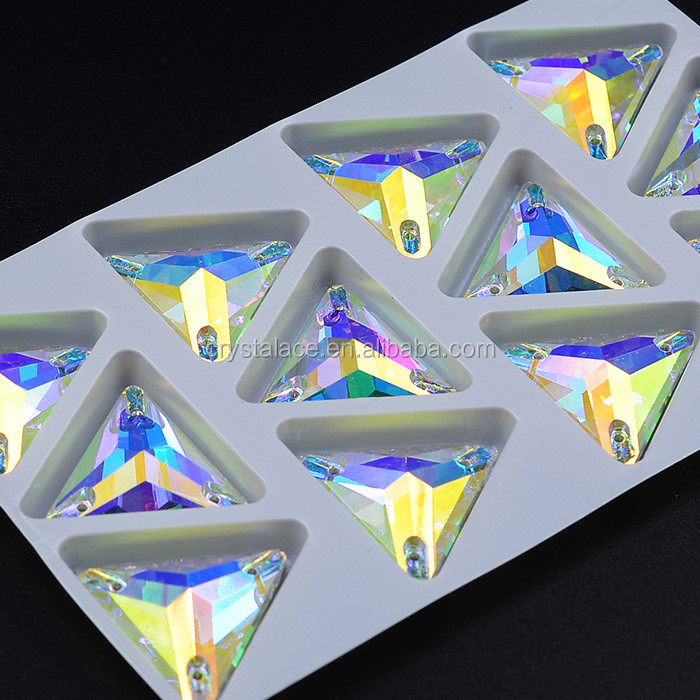 Topaz AB rhinestone sew on big glass stones teardrop for lady shoes dress bags