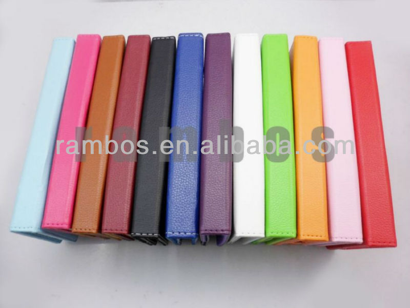 12 Color 7 inch Tablet PC Folio PU leather Case Cover for Google Nexus 7, for Samsung Galaxy Tab 2 P3100