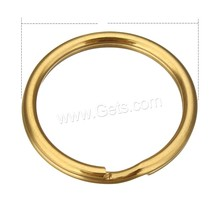 Custom Metal Keychain Key Split Ring gold color plated different size for choice Sold By PC