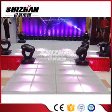 Aluminum/plywood/glass small concert stage