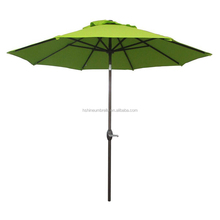 9feet aluminum round garden outdoor umbrella with auto tilt and crank