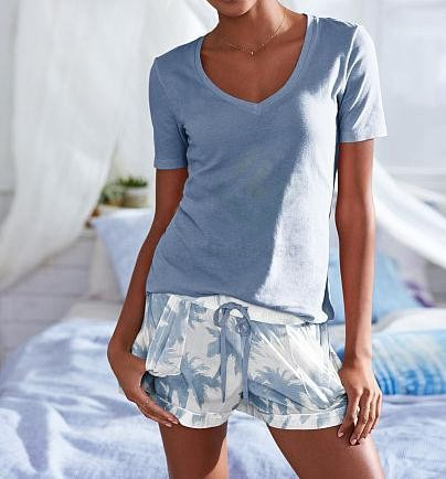 Ladies' High Quality Short & Tee Set Pajama