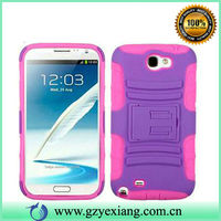 For Samsung Galaxy Note 2 7100 Belt Clip Case, PC TPU Hrybrid Cover