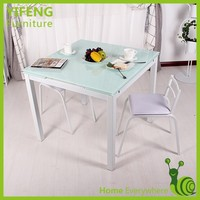 Wholesale Glass Expandable Dining Table Design 4 Seater Dining Table Designs