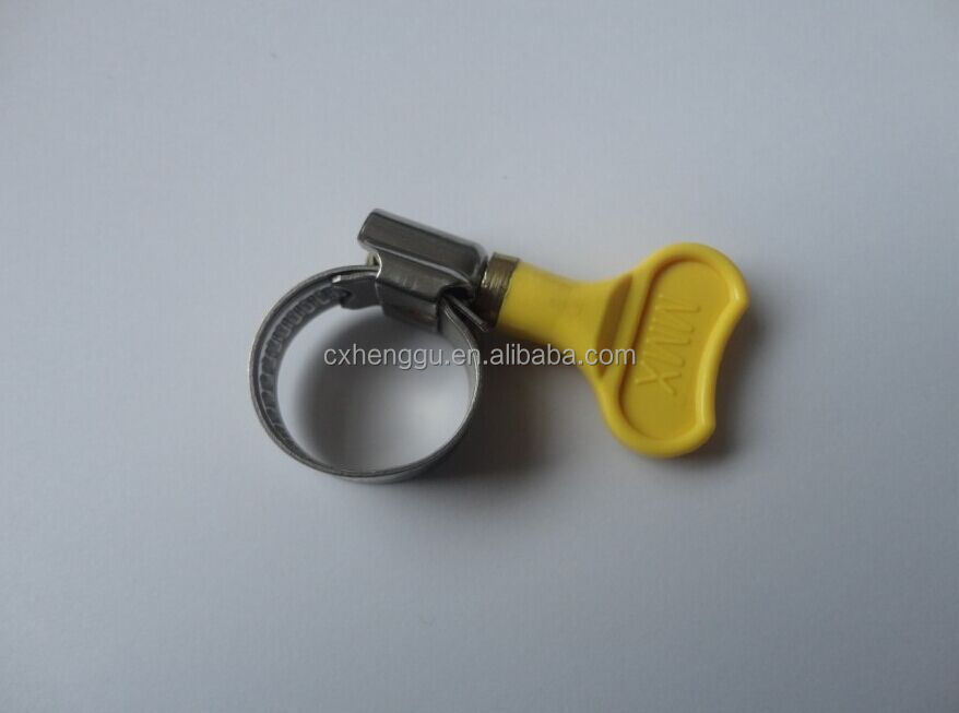 Carbon steel hose clamp with butterfly handle hose clip with plastic handle stainless steel hose clamp german types