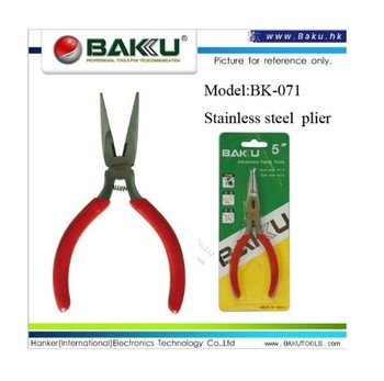 BK-071 High quality low price multi functional flat nose stainless steel cutting pliers