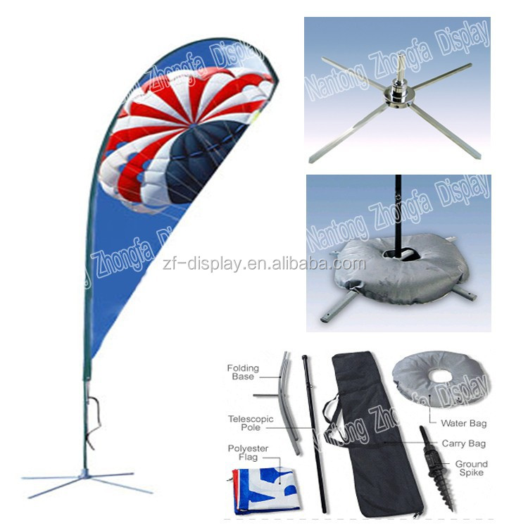 Telescoping Fiberglass Flying Banner Stand, Beach Flags, Sail Flying Banner