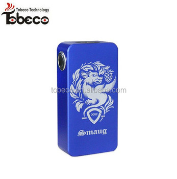 Tobeco 1:1 clone most popular wooden box mod aluminium material mechanical parallel smaug box mod