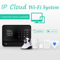 FDL Android + IOS APP application easily control ,Leaving message remotely WIFI home alarm system with 100 million IP camera