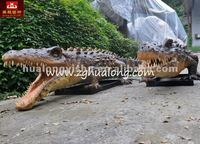 Imitate animal park animtronic 2.5M long alligator model