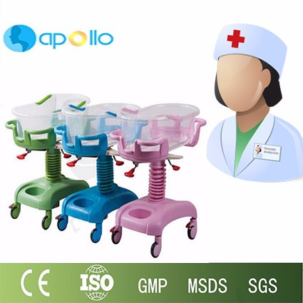 Hospital plastic luxury baby crib/baby bed for hospital