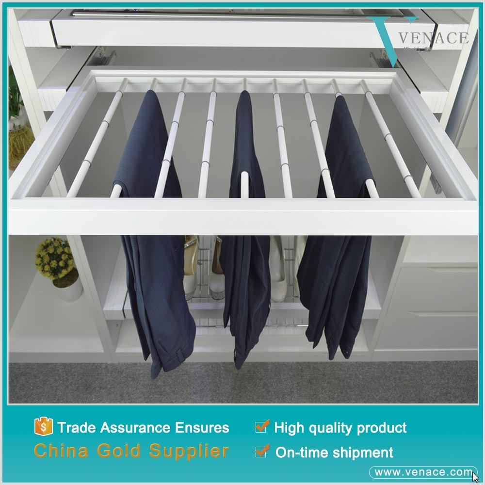 Lifestyle Anti-skidding iron shirts holders Hardware trouser rack with clips
