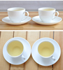 Hot sale 200ml white porcelain cup and saucer set for coffee