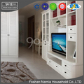 hot sale white modern tv stand wooden furniture lcd tv stand for living room