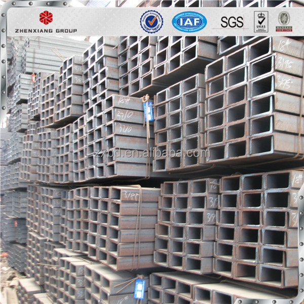 Hot Rolled Carbon Galvanised U Type Mild Steel Channel