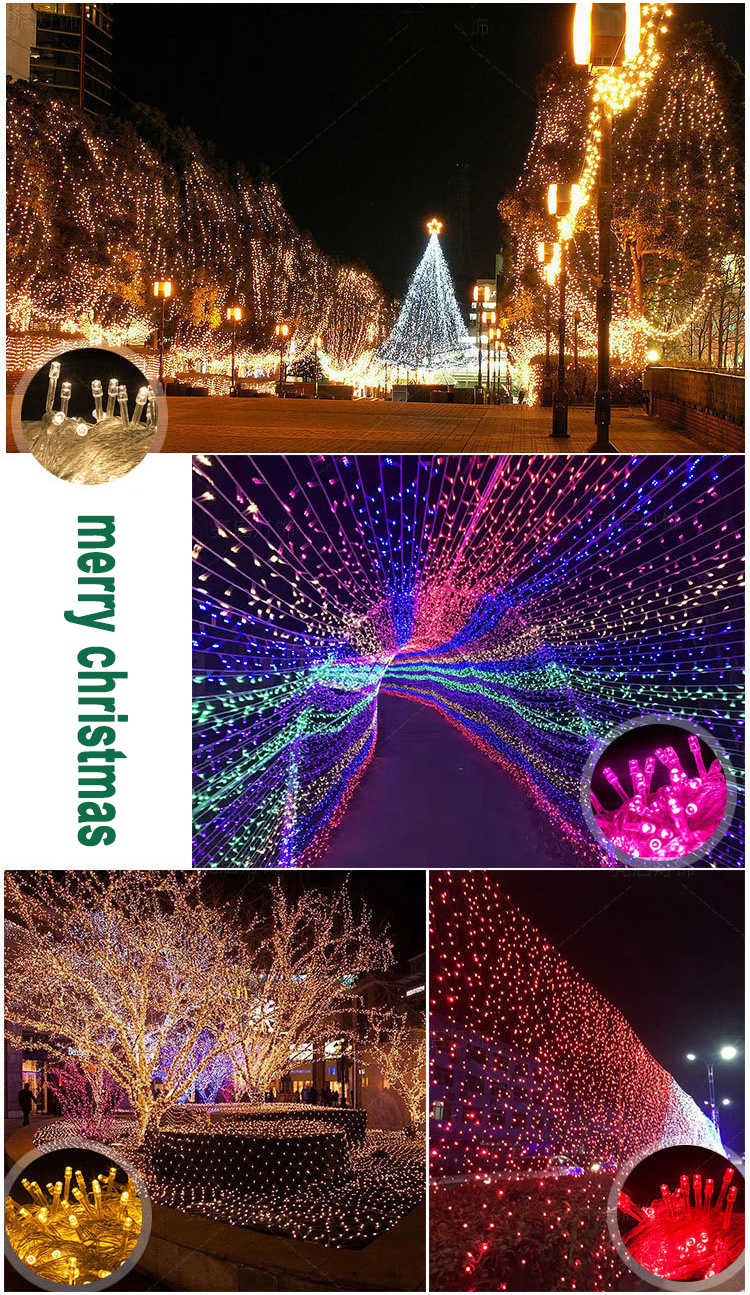 2018 Hot sale 10M 100 leds AC 110V/220V Christmas Decorative String lights holiday lighting