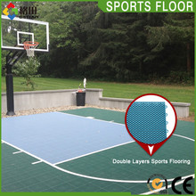 Low price practical outdoor pp plastic flooring basketball court
