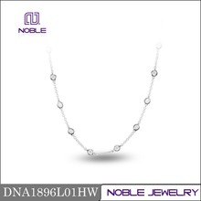 Brand new solid bubble 18K white gold diamond necklace jewelry