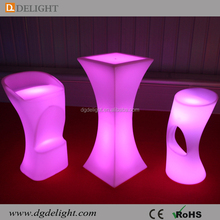 Party Event High Top LED Illuminated Cocktail Table with RGB 16 Colours