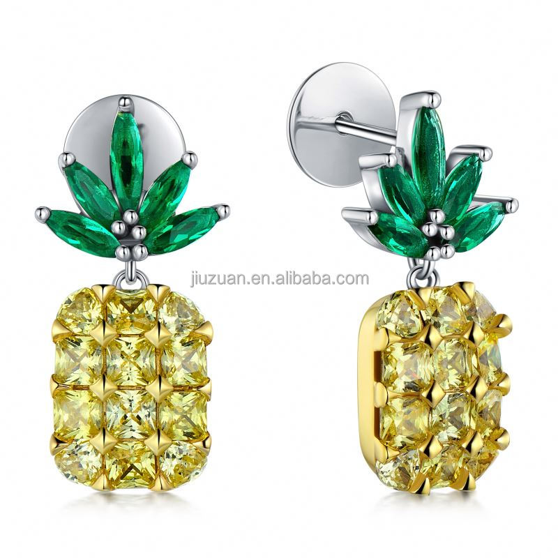 Customized Fashionable Women Single Stone Earring Designs For Lady