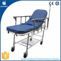 BT-TR013 hospital cheap stainless steel frame transport stainless steel stretcher to bed transfer
