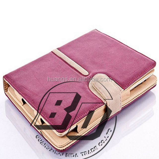 New Stylish Rotating Suede Leather Smart Tablet Case Cover Stand With Sleep/Wake For Apple iPad air 2 tablet case