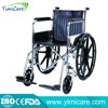 Competitive price aluminum foot pad soft seat Steel frame Wheelchair YM809