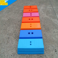 Hot sale Blow mould temporary fence feet post base(factory,iso9001)