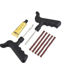 Car Bike Auto Tubeless Tire Tyre Puncture Plug Repair Cement Tool Kit
