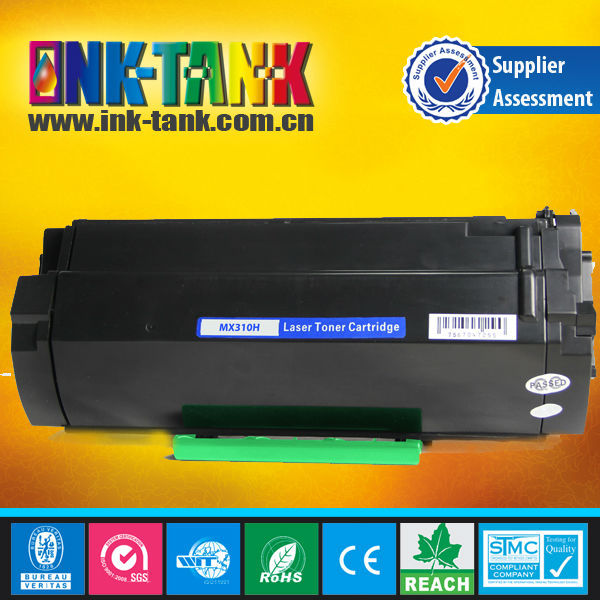 compatible lexmark toner cartridge for lexmark MS310d/MS310dn/MS410d/MS410dn/MS510dn/MS610DN