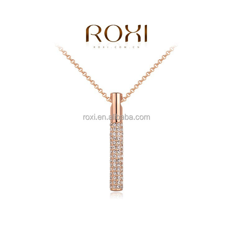 ROXI Fashion Unique Rose Gold Plated Necklace long chain necklace with Crystal Pendant necklace jewelry Manufacturer shenzhen