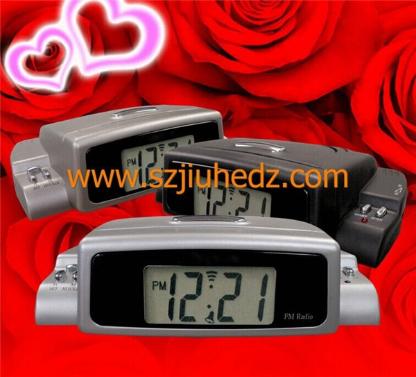 LCD Talking Alarm Clock with FM radio