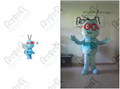 custom red glasses bee mascot costumes blue bee costumes