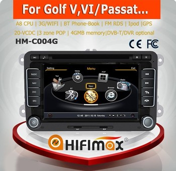 Hifimax car radio audio video stereo for vw sharan car mp3 mp4 mp5 player