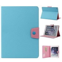 Hit Color Design Book Folio Leather Flip Cover PU Tablet Bling Phone Case For Ipad Air 5