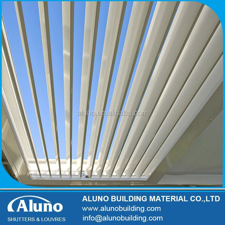 Sun and Rain Control Pergola Adjustable Louvres