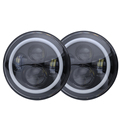 LOYO factory oem  angel eye 7 inch led headlight  accessories for jeep wrangler jk