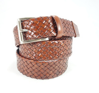 Latest Style Designer Gait Mens Genuine Leather Weave Belt
