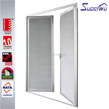 NAFS certificated China supplier for residential aluminum kitchen double swing doors