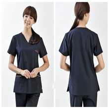 Women new style nurse designer hospital V neck short sleeve medical surgical scrubs tops uniform