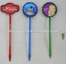 customer logo PVC carton ballpoint pen for promotion
