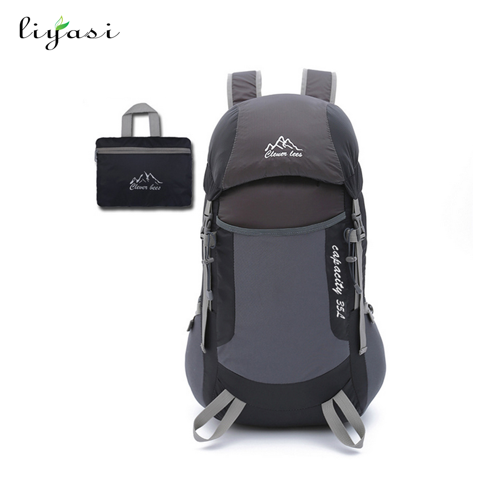 wholesale folding waterproof backpack polyester fabric travel sports <strong>bag</strong>