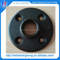 "3/4"" black iron floor flange used in antique furniture legs"