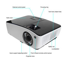Alibaba Export 13000:1 Contrast Ratio Keystone Correction 3D Video Projector 4K for Teaching