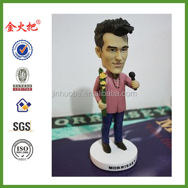 Heavyweight Resin And Hand-painted Morrissey Bobble Head Statue