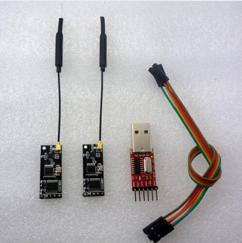 2x UART RF Wireless Transceiver Module + USB to TTL RS232 Telemetry Kit 2.4G for Ard 3DR Radio APM APM2 Vehicle UNO DUE MEGA