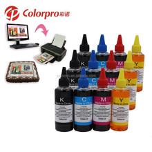 100ml*4 color universal edible ink for Epson inkjet printer BK C M Y