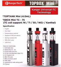 Original Subox Mini pro / toptank mini Subox mini Pro/ Topbox mini e cig wholesale China
