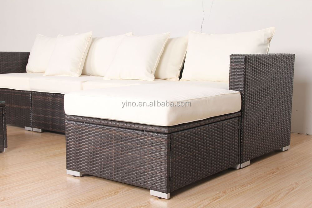 KD structure aluminum brushed finish outdoor garden sofa set / KD sofa furniture SF0072